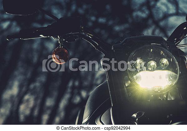 Motorcycle Night Ride Theme - csp92042994