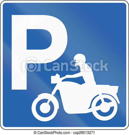 motorcycle parking clipart  Motorcycle parking in iceland. Road sign in iceland - parking for ...