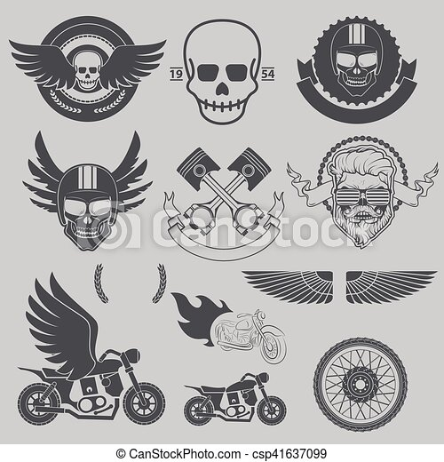 Motorcycle race, motorcycle club, biker club, motorcycle shop lo - csp41637099