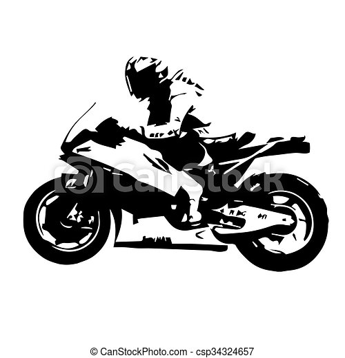 Motorcycle Racing Silhouette Motorbike Vector Illustration