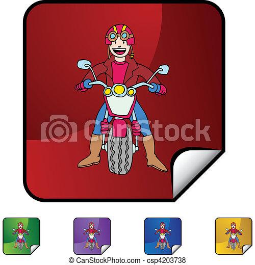 Motorcycle Rider - csp4203738