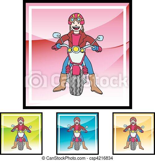 Motorcycle Rider - csp4216834