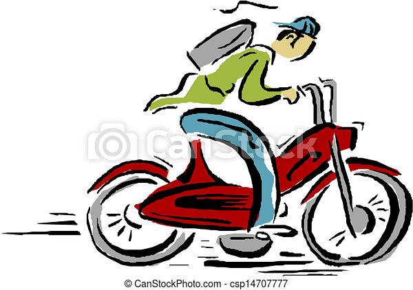 Motorcycle rider - csp14707777