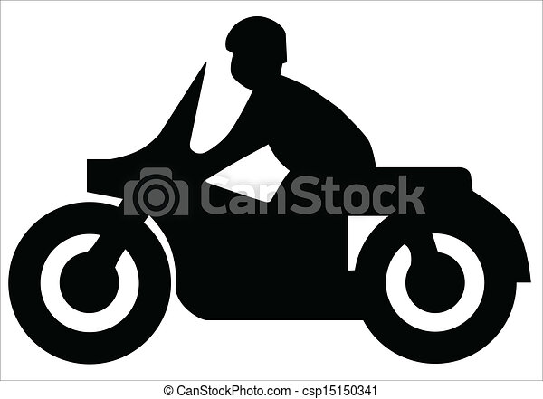 motorcycle silhouette silhouette of a motorcycle and rider eps rh canstockphoto com