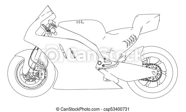 motorcycle sketch images  Motorcycle sketch. vector rendering of 3d. the layers of visible and ...
