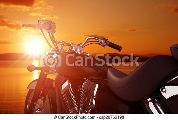 Motorcycle Traveling Concept - csp20762198
