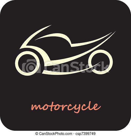 Motorcycle - vector icon - csp7399749