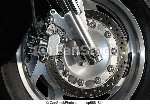Motorcycle Wheel Close Up - csp5681814