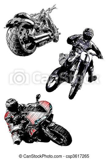 motorcycles trio - csp3617265