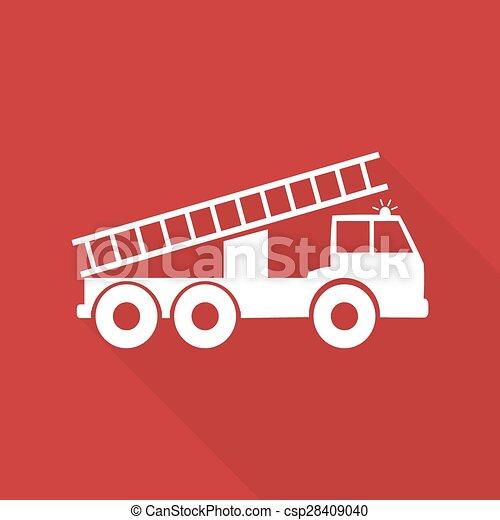 motore, fuoco, lungo, vettore, illustrazione, uggia - csp28409040