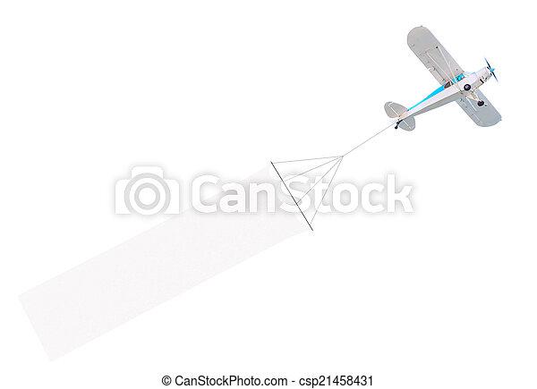 motore, singolo, aereo, bandiera - csp21458431