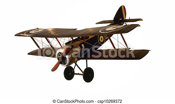 motorflugzeug, altes  - csp10269372