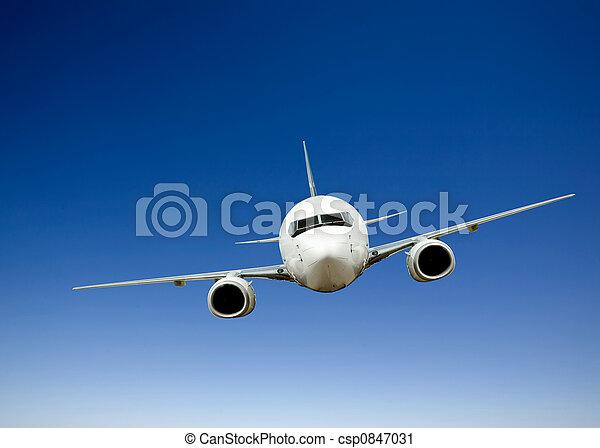 motorflugzeug, flug - csp0847031