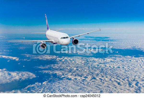 motorflugzeug, flug - csp24045012