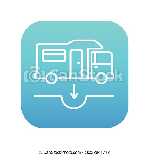 Motorhome and sump line icon. - csp32941712