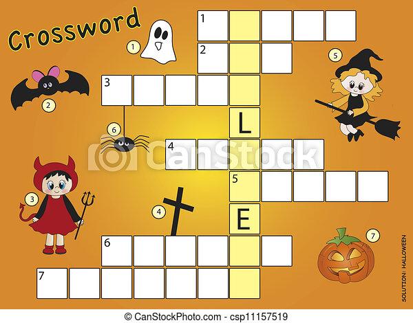Turbo Clipart de mots croisés, halloween - children:, mots croisés, jeu  AJ94