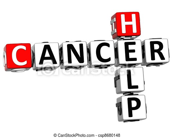 mots croisés, aide, cancer, 3d - csp8680148
