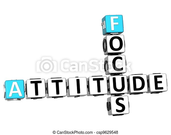 mots croisés, attitude, foyer, 3d - csp9629548