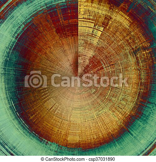 Mottled vintage background with grunge texture and different color patterns: yellow (beige); brown; green; blue; red (orange) - csp37031890