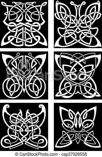 Motyle Tatuaże Celtycki Plemienny Dekoracyjny