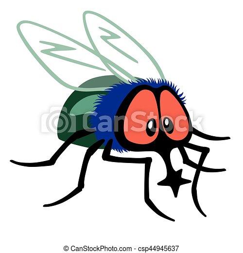 Mouche dessin anim mouche insecte blanc isol - Dessin de mouche ...