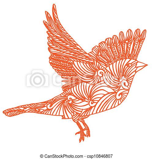 Mouche oiseau fly vectorized dessiner oiseau main - Oiseau mouche dessin ...