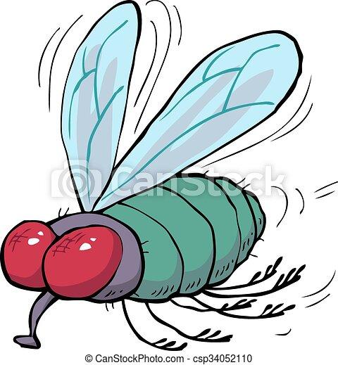 Mouche vert dessin anim mouche griffonnage - Dessin de mouche ...