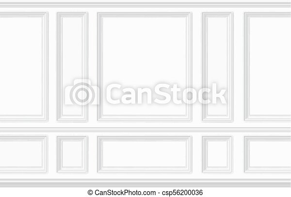 moulding white wall panel - csp56200036