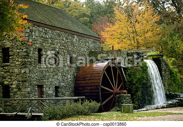 moulin, automne - csp0013860