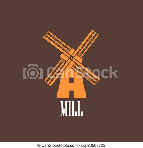 moulin, illustration - csp23583723