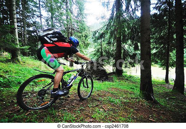 mount bike man outdoor - csp2461708