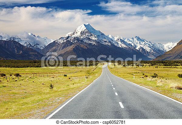 Mount Cook, New Zealand - csp6052781