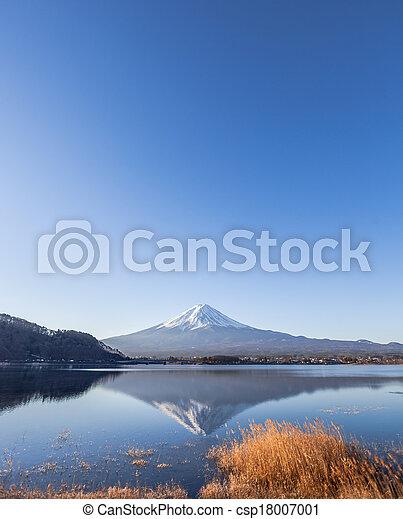 Mount Fuji from Lake Kawaguchiko - csp18007001