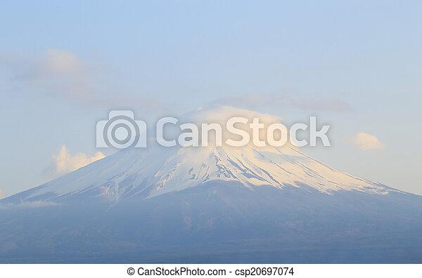 Mount Fuji, view from Lake Kawaguchiko - csp20697074