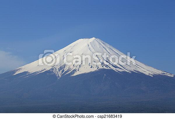 Mount Fuji, view from Lake Kawaguchiko - csp21683419