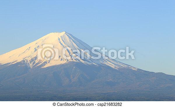 Mount Fuji, view from Lake Kawaguchiko - csp21683282