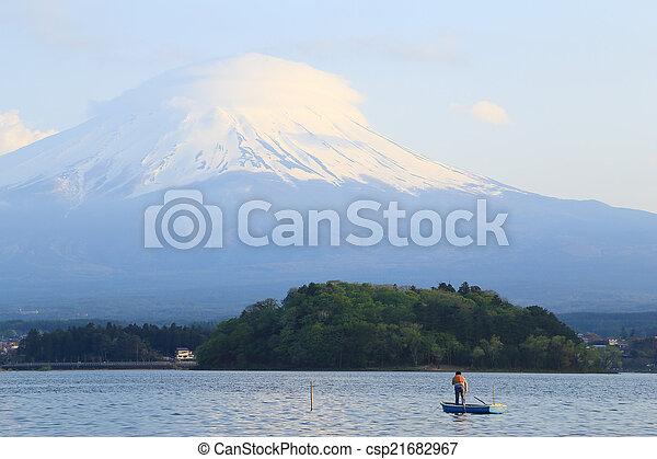 Mount Fuji, view from Lake Kawaguchiko - csp21682967