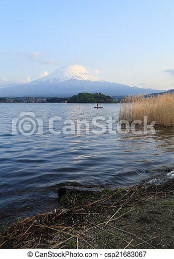 Mount Fuji, view from Lake Kawaguchiko - csp21683067