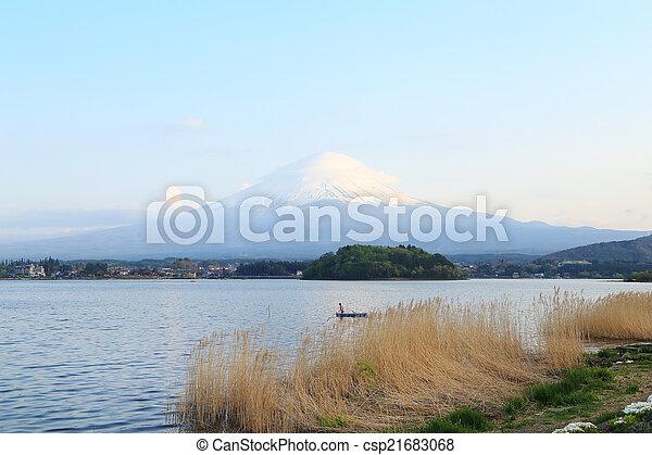 Mount Fuji, view from Lake Kawaguchiko - csp21683068
