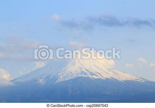 Mount Fuji, view from Lake Kawaguchiko - csp20697043