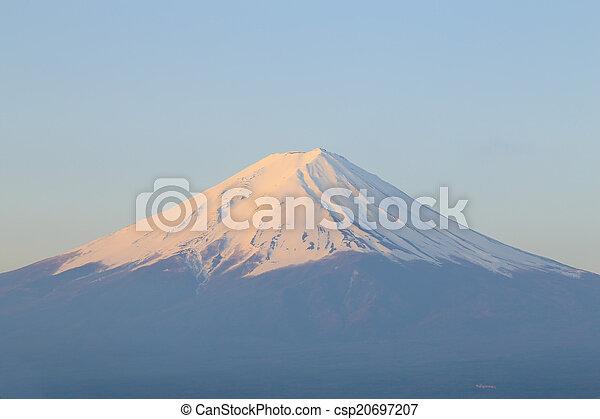 Mount Fuji, view from Lake Kawaguchiko - csp20697207