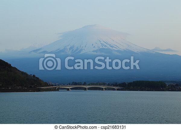 Mount Fuji, view from Lake Kawaguchiko - csp21683131