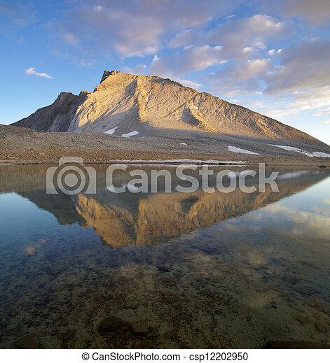 Mount Tyndall Reflection - csp12202950