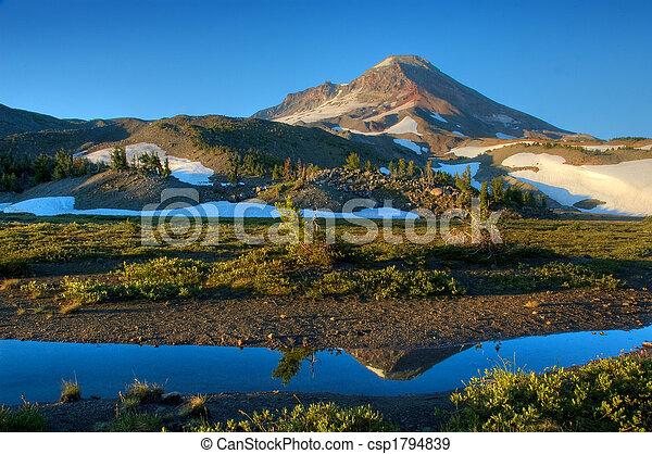 Mountain at sunrise - csp1794839