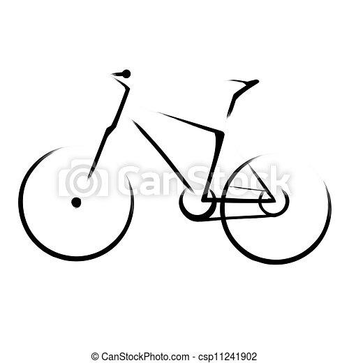 Mountain bicycle bike - csp11241902