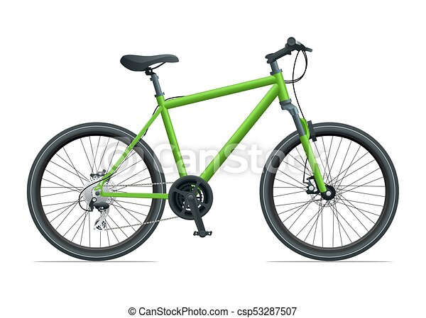 mountain bike or urban bike isolated on white background vector rh canstockphoto com clipart mountain bike mountain bike clipart images