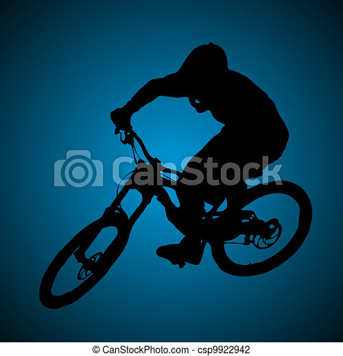 Mountain biker - csp9922942