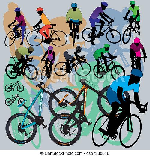Mountain Bikes Set - csp7338616