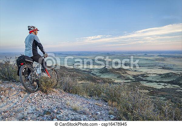mountain biking in prairies - csp16478945