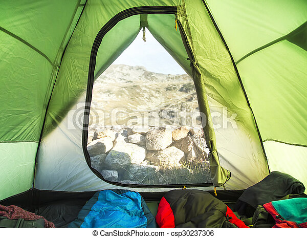 Mountain Camping Tent Inside View